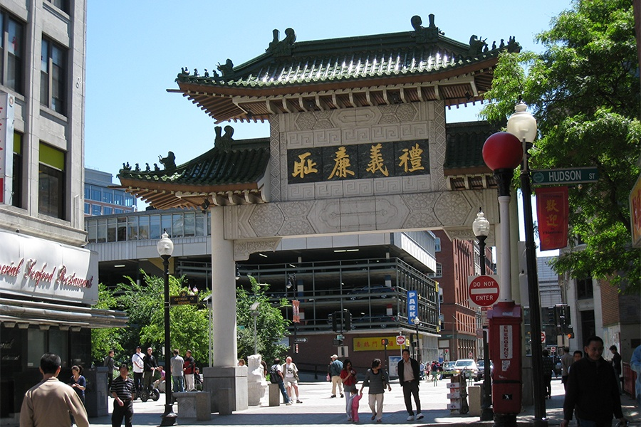 Boston chinatown gate