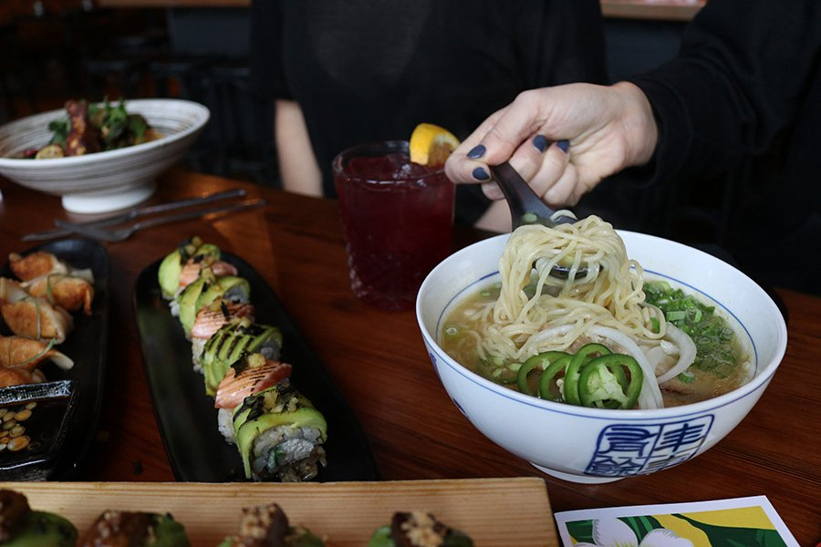 Fat Baby Sunday Slurps noodles