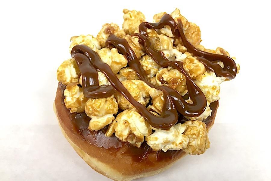 A special gourmet popcorn doughnut at Kane's