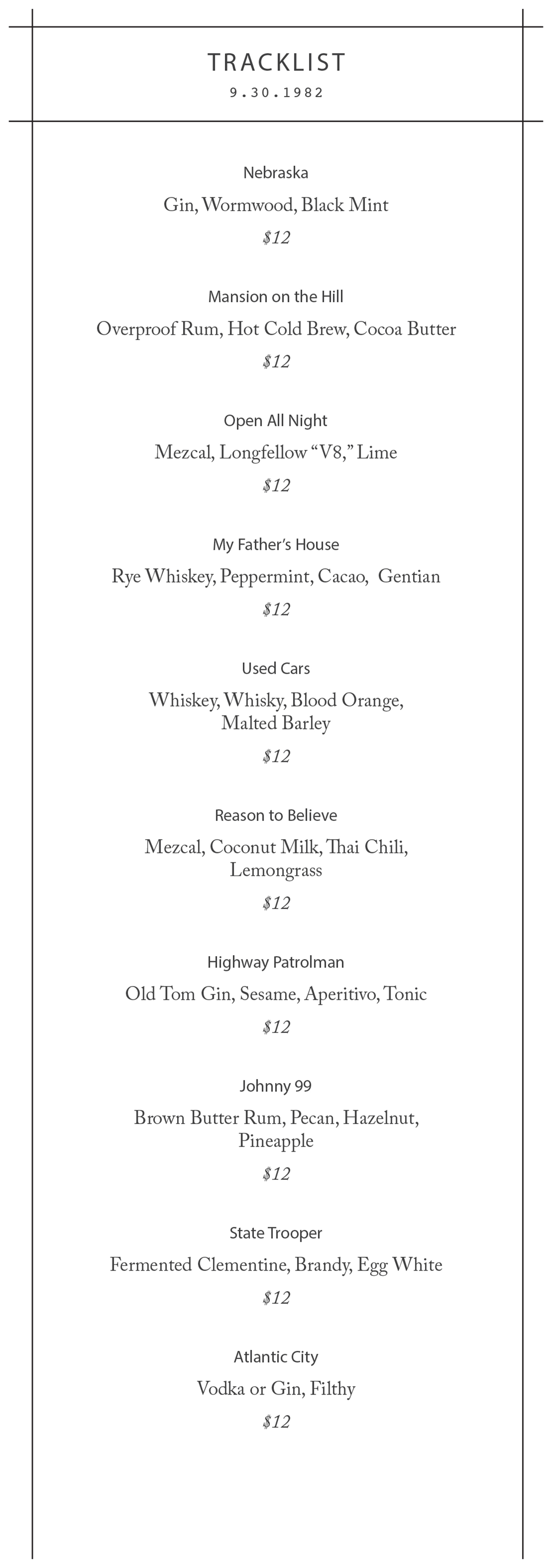 Longfellow Bar drink menu-2