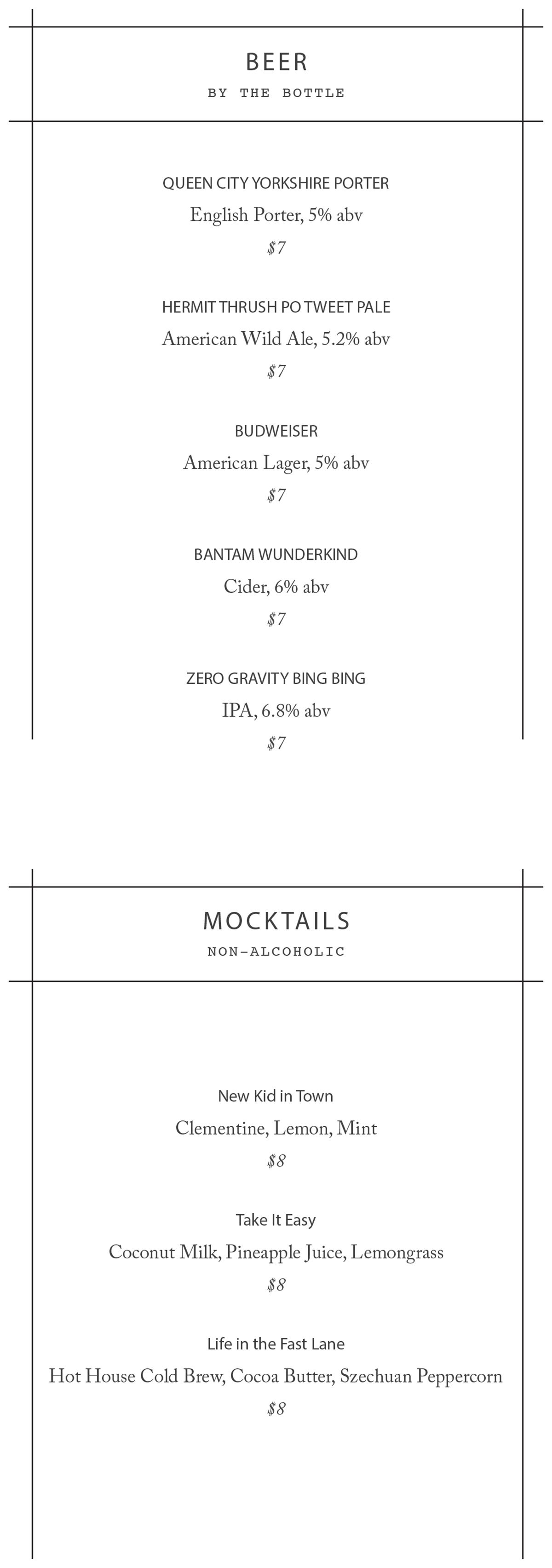 Longfellow Bar drink menu-5