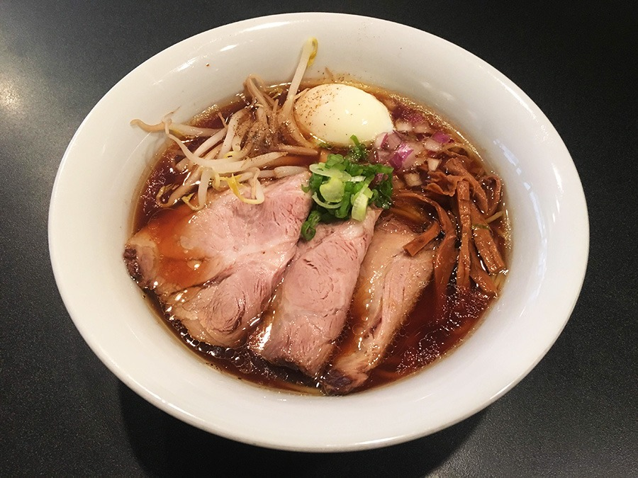 Formula 1985 Ramen, a signature bowl at Tsurumen Davis.
