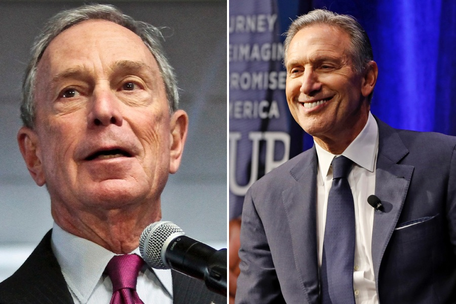 michael bloomberg and howard schultz