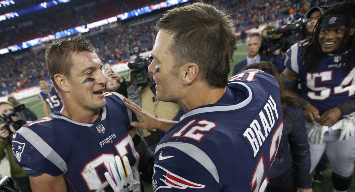 On Instagram, Tom Brady and Gronk Let the Win Speak for Itself