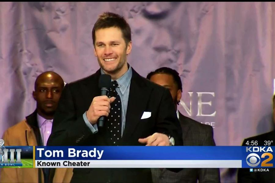 tom brady known cheataer chyron