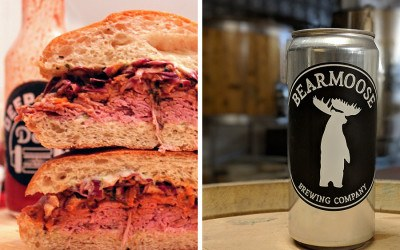 "Deep Cuts Deli ""Big Trouble in Little Boston"" sandwich at BearMoose Brewing Company"