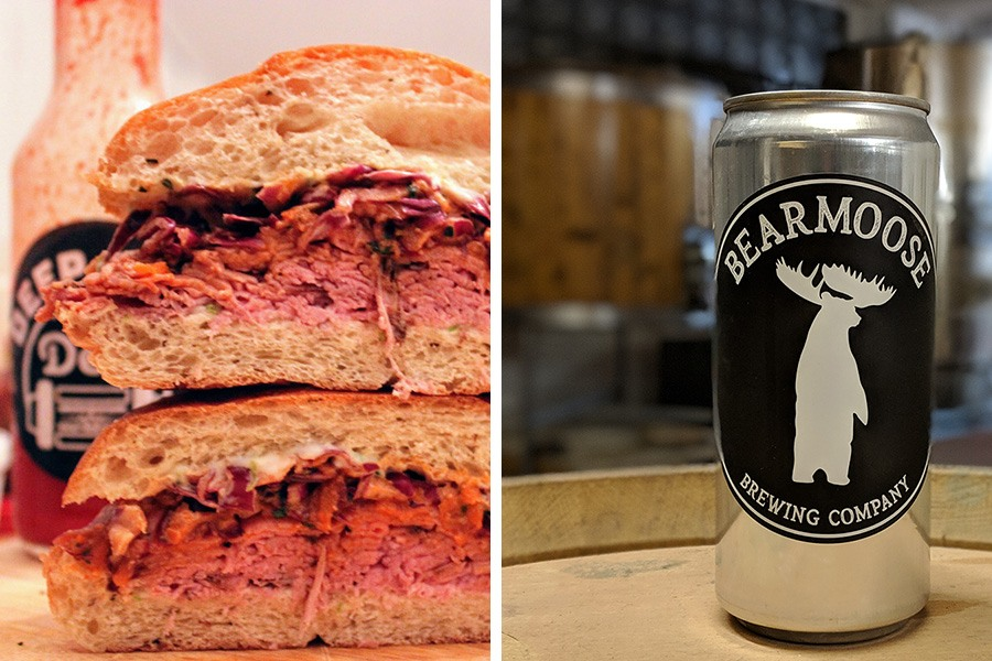 "Deep Cuts Deli ""Big Trouble in Little Boston"" sandwich at BearMoose Brewing Company"