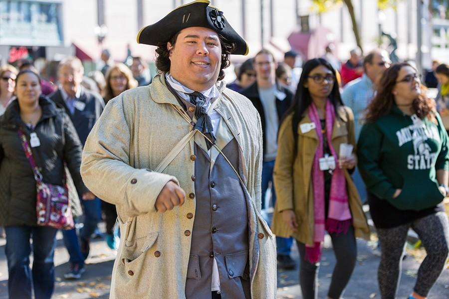 Freedom Trail tour guide in Boston Common