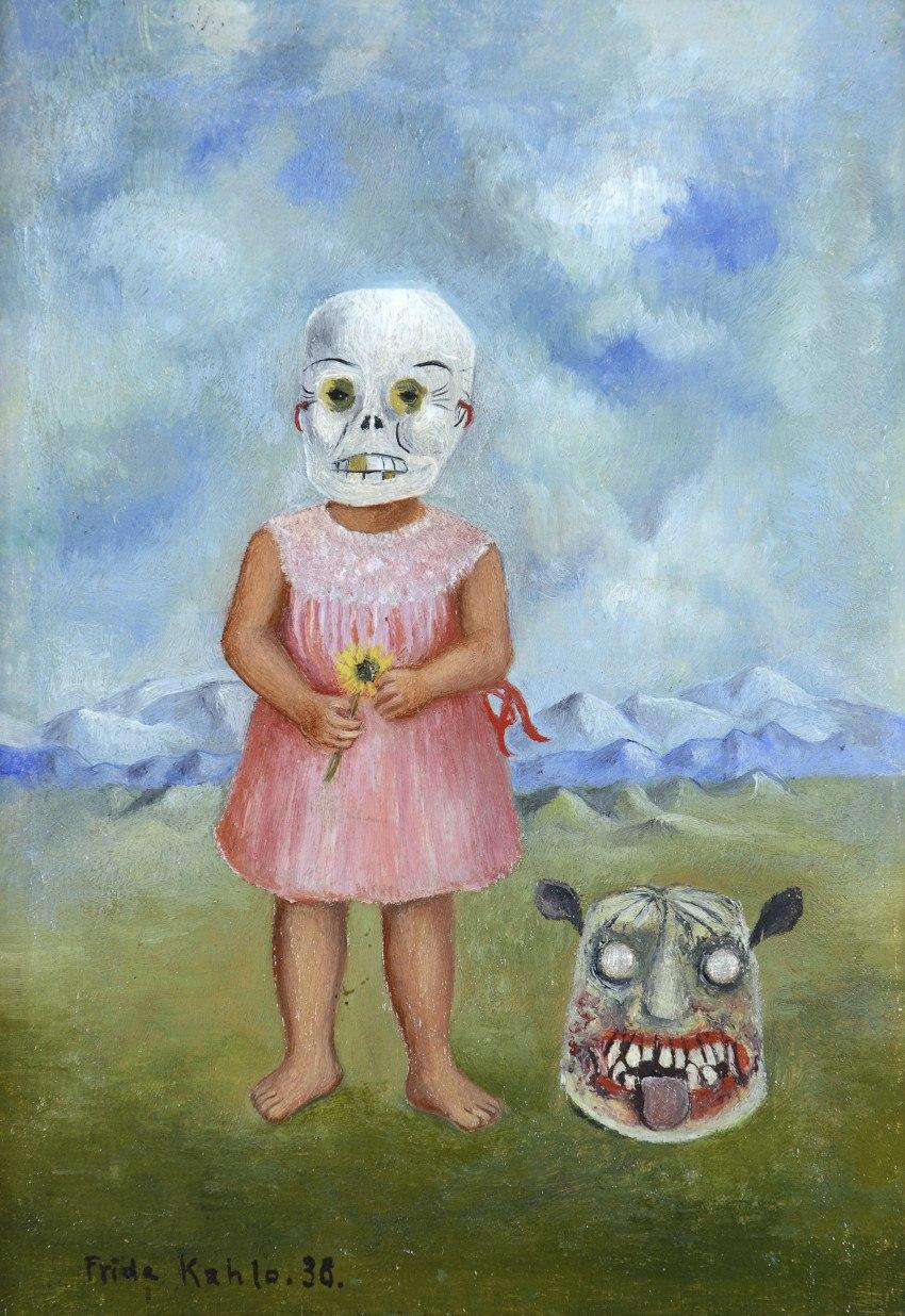 Frida Kahlo's Girl with Death Mask