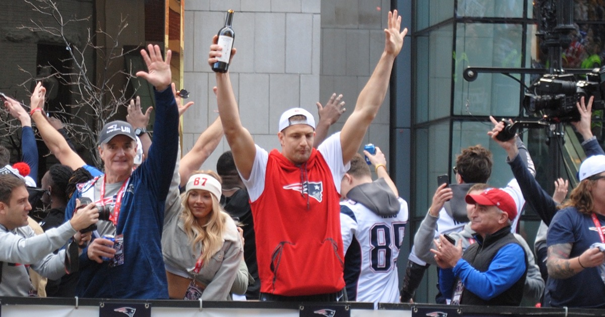 Um, Gronk and Edelman's Parade Day Celebrations Were Extremely Cool