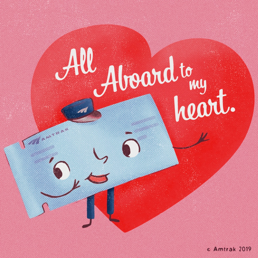 amtrak valentine