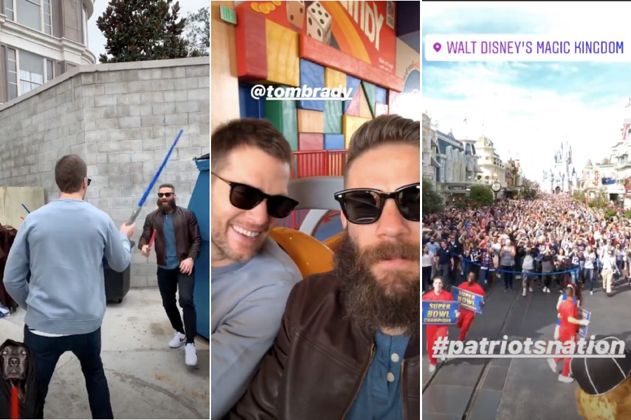 tom brady julian edelman disney world