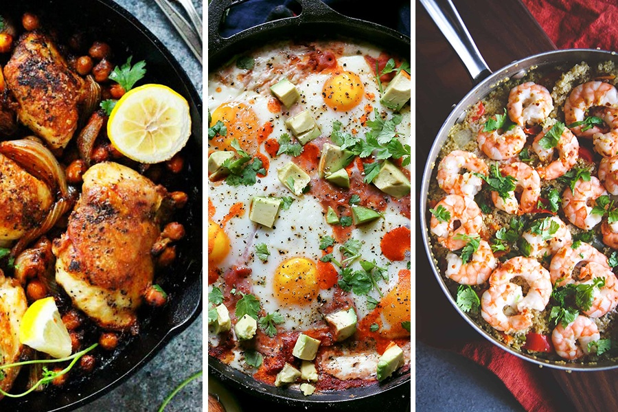 meals pot dishes healthy menu egg ensure mix restaurant right quinoa chicken kitchen thai save health pairings harissa shrimp polenta