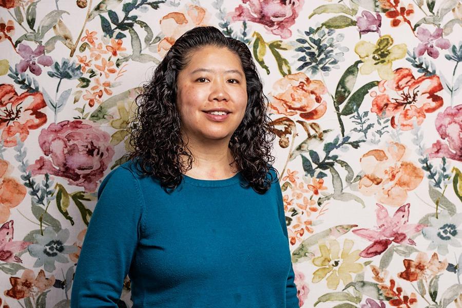 Cynthia Soo Hoo principal of Josiah Quizy Elementary School Chinatown