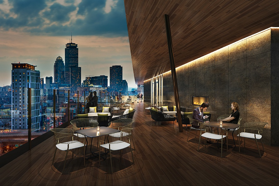 Six West Rooftop Bar and Lounge will open this summer at Cambria Hotel Boston