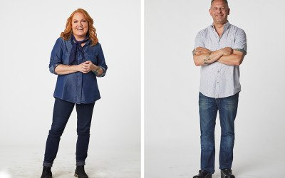 "Boston chefs Tiffani Faison and Andy Husbands are guest judges on the premiere season of ""Fire Masters"" on Food Network Canada"