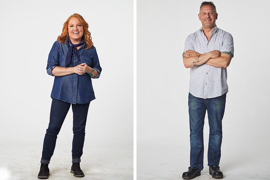 """Boston chefs Tiffani Faison and Andy Husbands are guest judges on the premiere season of """"Fire Masters"""" on Food Network Canada"""