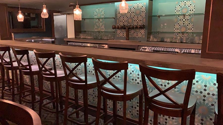 The downstairs bar at Gustazo Cambridge