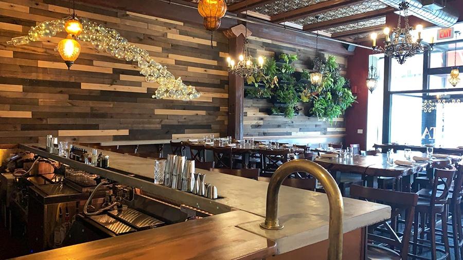 The upstairs bar at Gustazo Cambridge