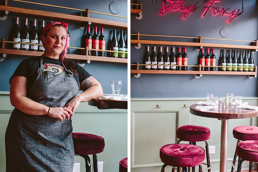 Chef Karen Akunowicz at her South Boston restaurant Fox & the Knife