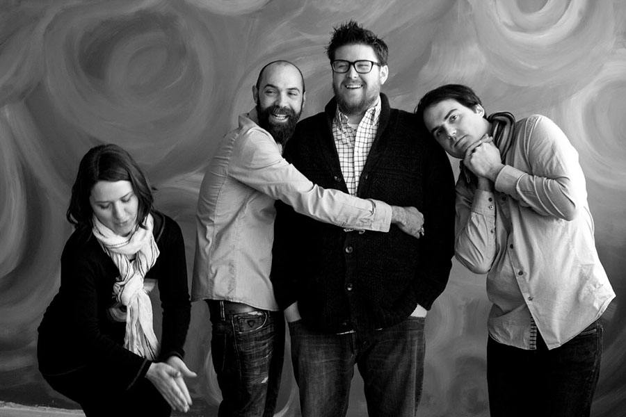 L to R) Loyal Nine and Northern Spy owners Rebecca Myers, David Beller, Marc Sheehan, and Daniel Myers
