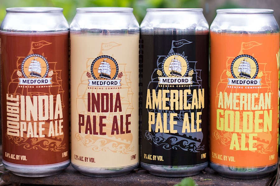 Cans by Medford Brewing Company