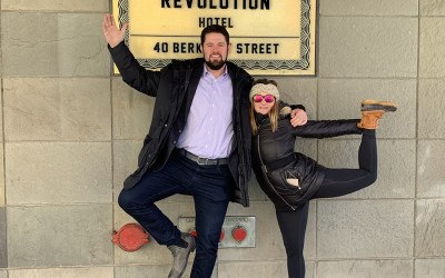 Ronan O'Connor and Haley Rose at the South End's Revolution Hotel