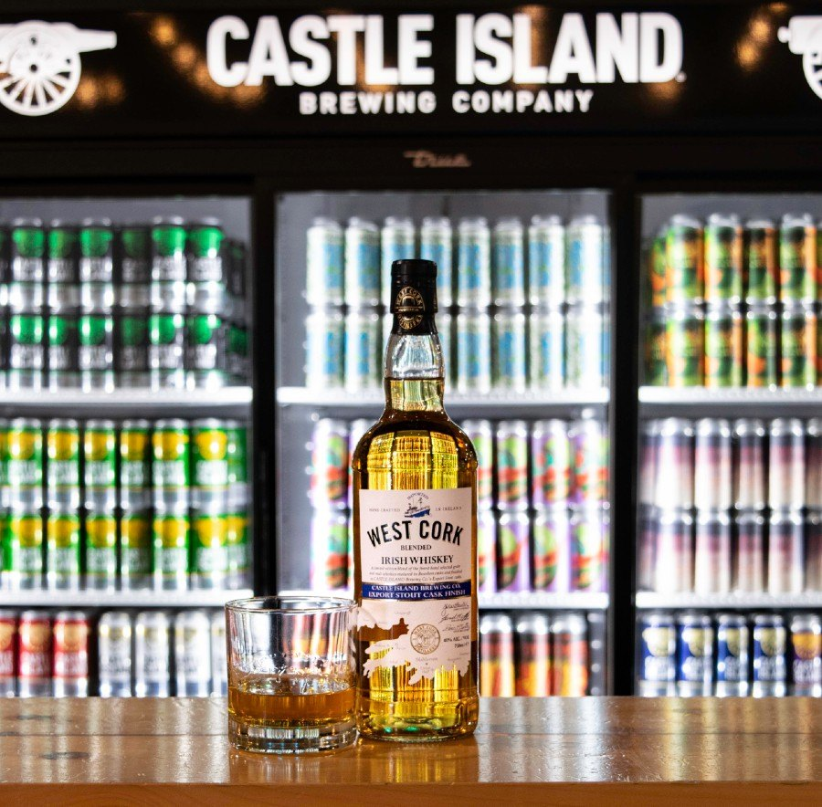 West Cork Distillers whiskey at Castle Island Brewing Co.