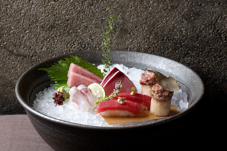 Sushi and sashimi is on the menu at Zuma Boston