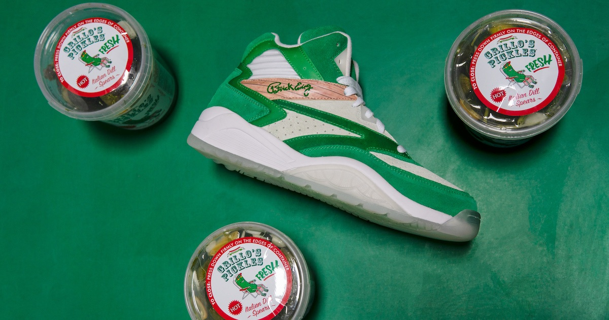 Grillo's Pickles and NBA Icon Patrick Ewing Made a Sneaker