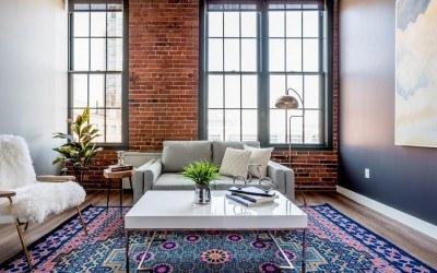 seaport loft living room
