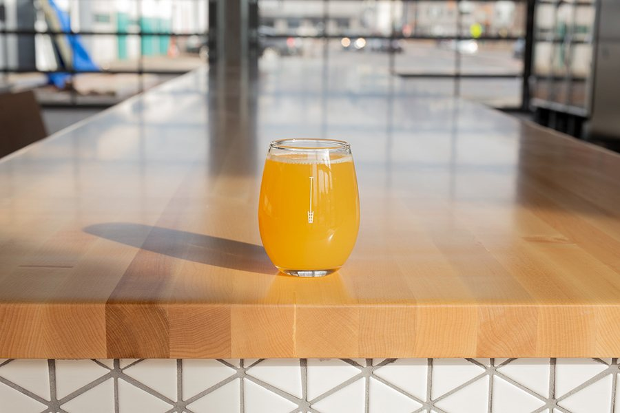 A hazy, golden beer from Austin Street Brewery