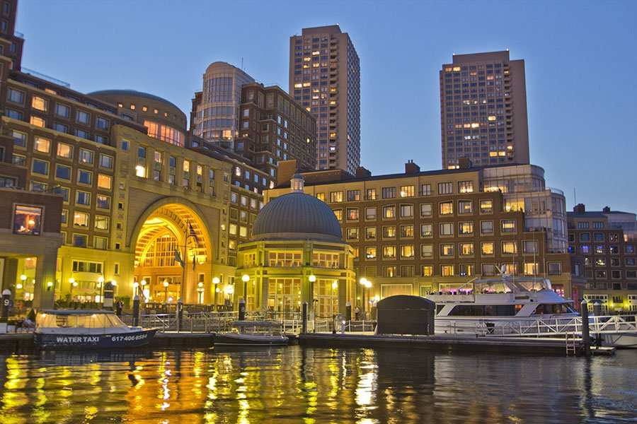 The Boston Harbor Hotel on the waterfront