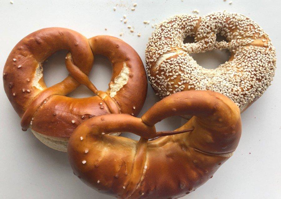 pretzels at Clear Flour bakery