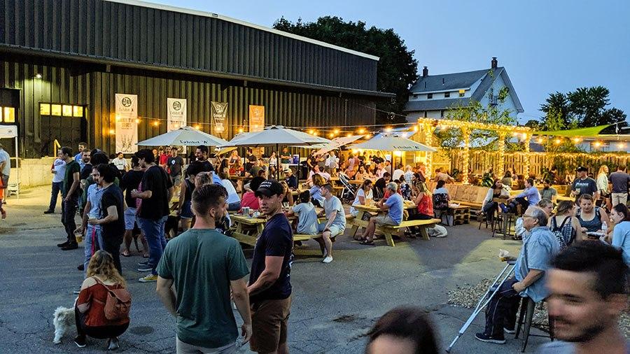 Exhibit 'A' Beer Garden with people