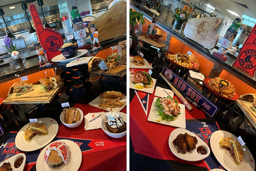 A spread of new concessions at Fenway Park includes a brunch burger on two waffles (a day-game exclusive), ice cream sundaes for the menu at the Kids' Concourse, and more
