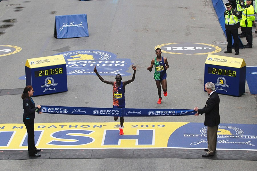 lawrence cherono boston marathon 2019 winner
