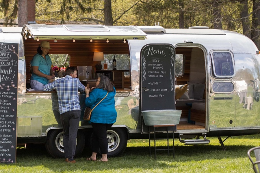 Hive serves up beer and wine from a vintage Airstream trailer in JP