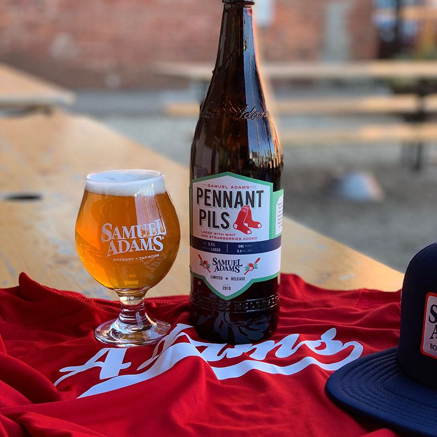 Sam Adams Pennant Pils is available at Fenway Park