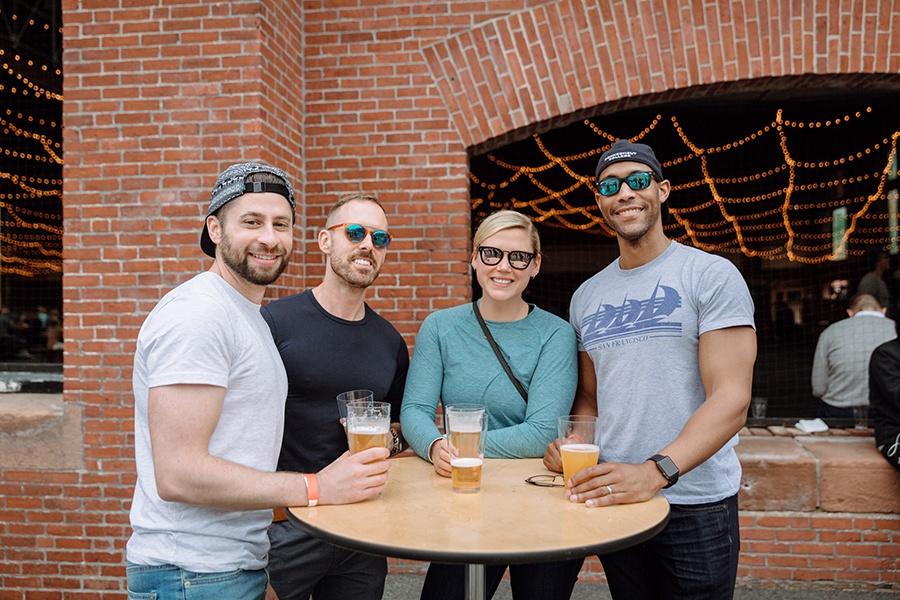 SoWa beer garden guests