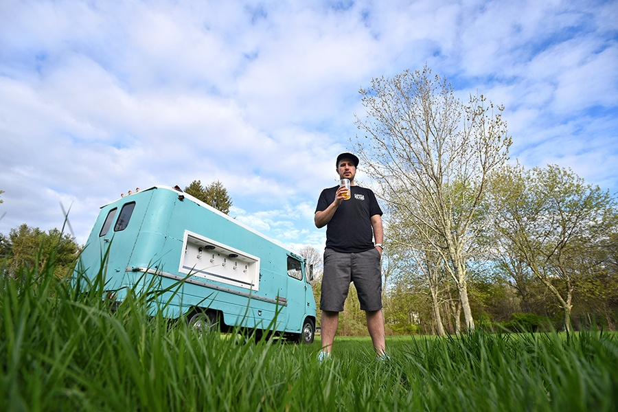Tapped Beer Truck and its founder, chef Avi Shemtov