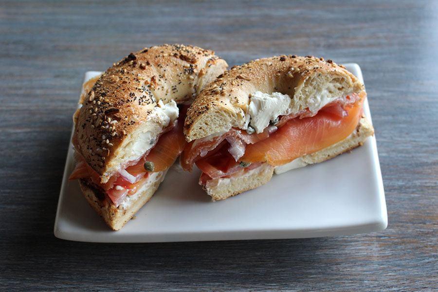 The Bagel Table lox breakfast sandwich