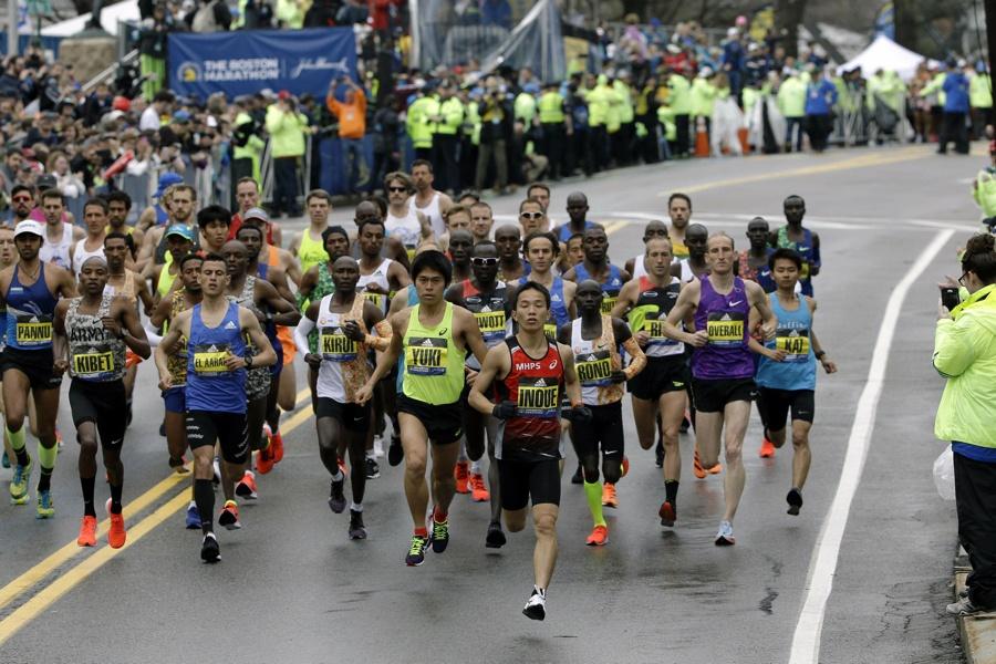 Boston Marathon 2019 Runners