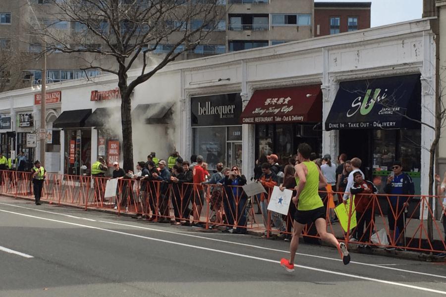fire brookline marathon
