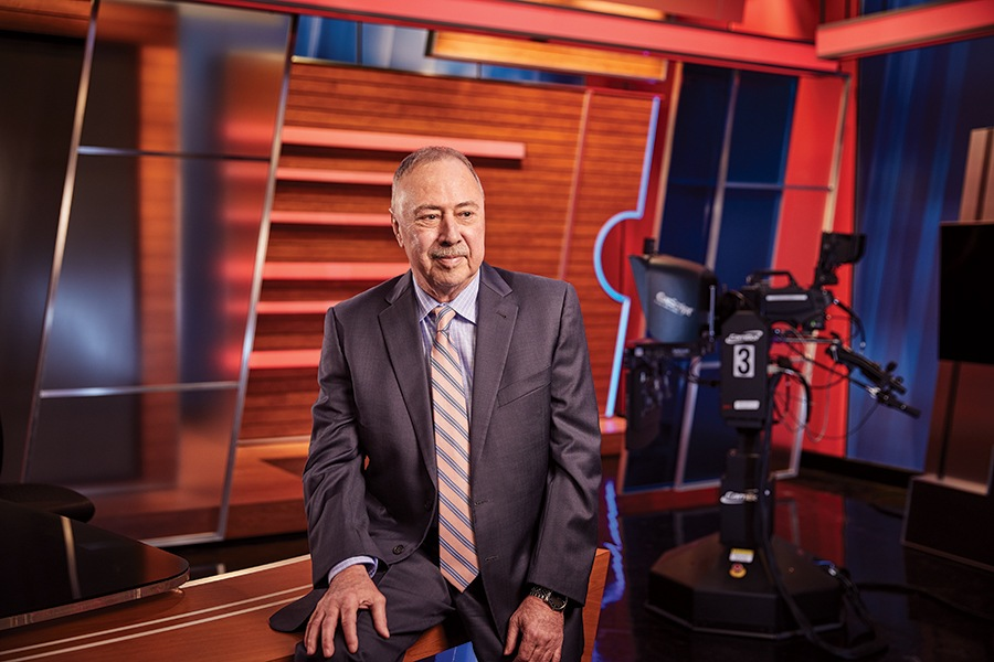 49caf8e14046e Jerry Remy at home in NESN s studios.   Photo by Ken Richardson