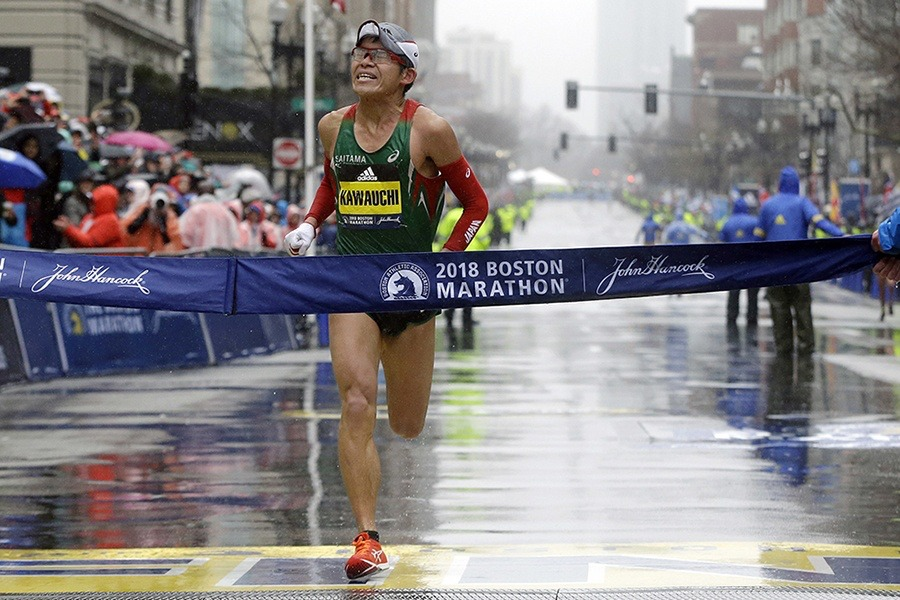 boston marathon rain