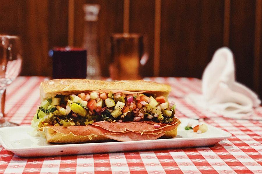 Italian sub from the lunch menu at Tony & Elaine's