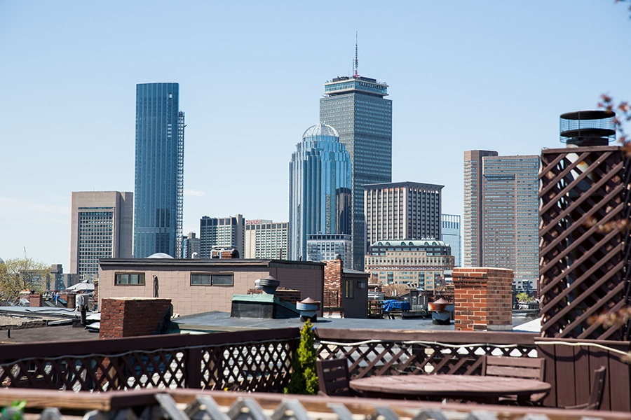 roof deck skyline view