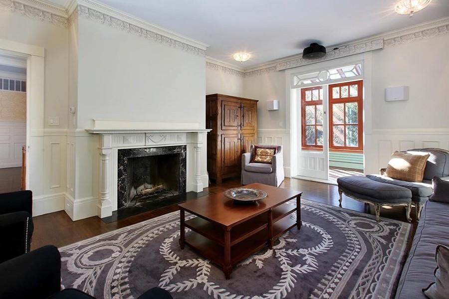 brookline mansion living room
