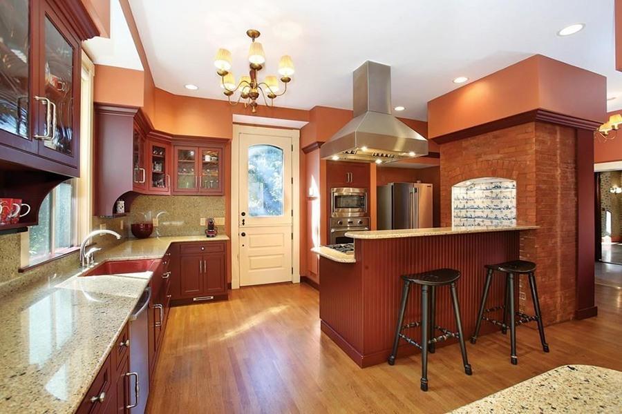 brookline mansion kitchen
